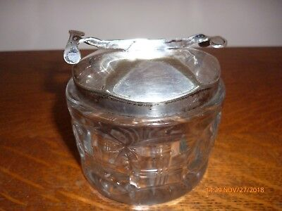 Antique The Sos Pascalls Patent Sugar Bowl & Nips