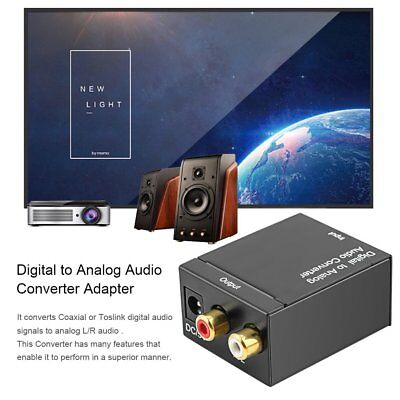 RCA Digital Optical Coax Coaxial Toslink to Analog Audio Converter Adapter JU