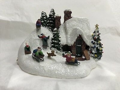"2009 Thomas kinkade By Teleflora. ""The Sleigh Ride"""