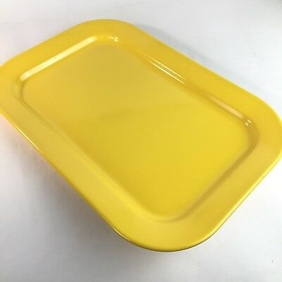 Texas Ware Yellow Melamine Melmac Serving Tray 15.5 x 10.5 Vintage Sunny