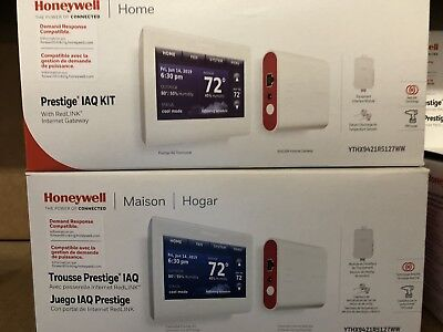Honeywell YTHX9421R5127WW Prestige IAQ Thermostat Kit w/ RedLINK New