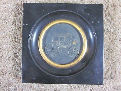 "Vintage - Wells Fargo - Stage Coach - Medallion - 2 7/8"" Round - Framed"