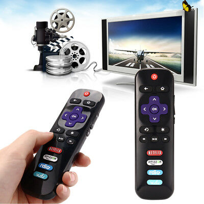 LED HDTV Remote Control For TCL ROKU Smart TV RC280 With Netflix Amazon Vudu Key