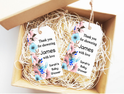 Personalised Baby Shower Tags Favour Gift Labels 15X