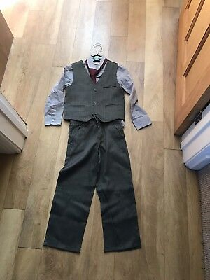 Boys Waist Coat, Shirt, Tie And Trouser Set Age 4-5yrs