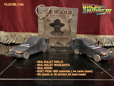 Doc Brown's Wooden DeLorean Time Machine model from Back to the Future 3