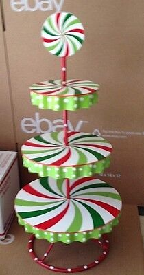 Cracker Barrel Christmas Sweets Three Tiered Server 21""