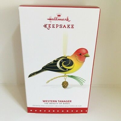 Hallmark Ornament 11th In Series Beauty Of Birds Western Tanager 2015