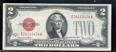 Superb Series 1928-G United States $2 Currency Note EN69