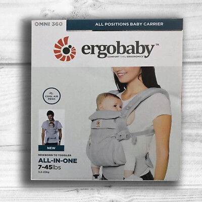 NEW! ERGOBABY 360 OMNI COOL AIR MESH ERGO BABY Carrier Sling Wrap. 5 COLORS