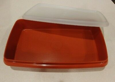Tupperware Deli Lunch Meat Keeper Paprika Red #816