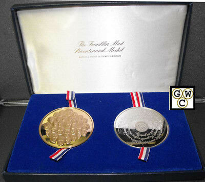 The Franklin Mint Sterling Silver and Bronze Bicentennial Medals Set (OOAK)