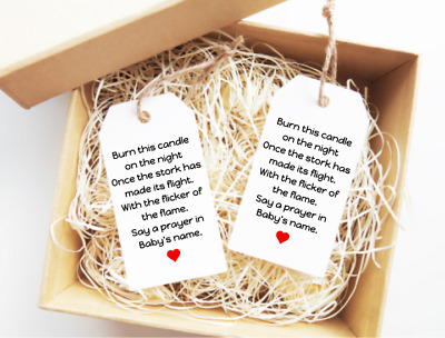 Baby Shower Candle Tags Baby Shower Thank You Gift Tags  Favour Tags 15x