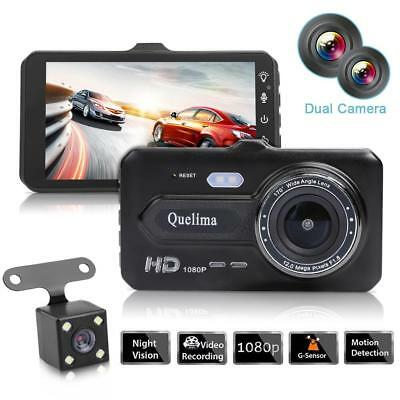 "4"" 1080P HD Touch Screen Dual Lens Car Auto DVR Camera Video Recorder Dash Cam"