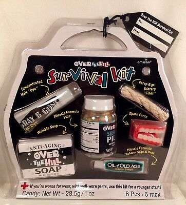51701f6e1ff2 ~NEW~ OVER THE HILL SURVIVAL KIT Great Gift Idea Retirement Gag Gift Fun  Gift