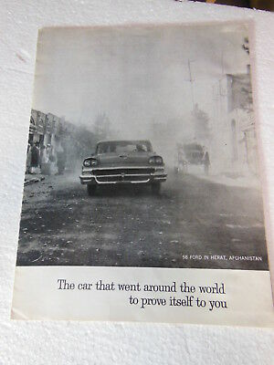 "1958 Ford, ""The Car That Went Around The World"" Brochure"