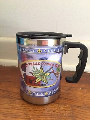 Netseo Trails Council BSA Logo Cup with Lid, New
