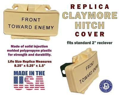 Limited Edition CLAYMORE HITCH COVER *  Tan Yellow #2 Black Letter Claymore