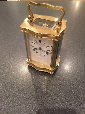 Very High Quality Fully Serviced French Brass Cased Carriage Clock