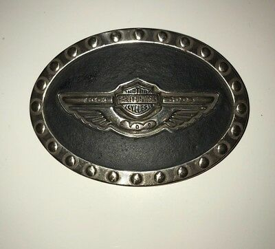 HARLEY-DAVIDSON MOTORCYCLES Belt Buckle 100th ANNIVERSARY (Limited Edition/Rare)