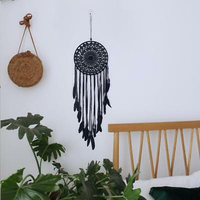 Black ​Feather Beads Handmade Dream Catcher Car Wall Hanging Ornament Decor Gift