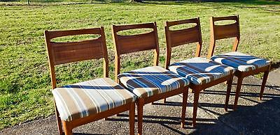Mid Century Modern American Of Martinsville  4 Walnut & Cane Back Dining Chairs