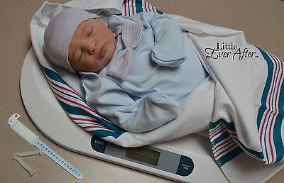 6 piece HOSPITAL SET Authentic for Reborn Baby Doll Newborn BLUE gown BOY