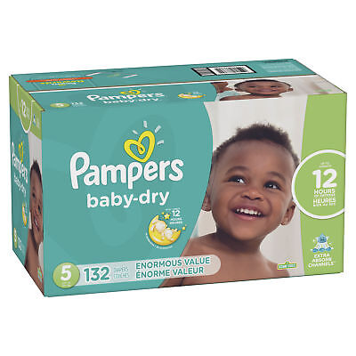 Pampers Baby-Dry Diapers Size 3 144 Count