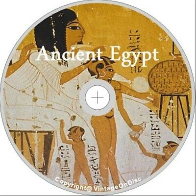 Ancient Egypt 334 Books on DVD Rom Cleopatra Pyramids Nile