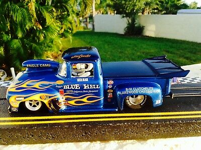 1/24 DRAG SLOT Car 2 BODIES Ford Pickup New Build w Redone Balanced Koford  Motor