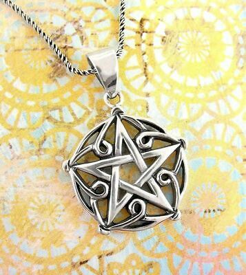 Pentagram of Brisingamen Necklace 925 Sterling Silver Wicca Wiccan Pagan wh445