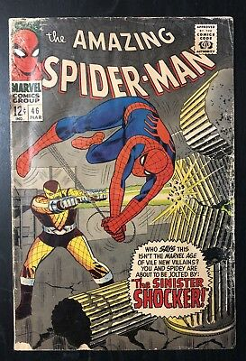 Amazing Spider-man #46 1st APP APPEARANCE Of The SHOCKER 1967 Comic Book