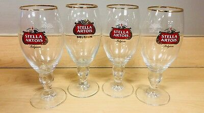 8 NEW Stella Artois Chalice 40 CL Beer Glasses Pub Bar Goblet Man Cave Belgium