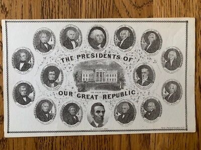 1861 Abraham Lincoln Presidents of our Great Republic Engraving