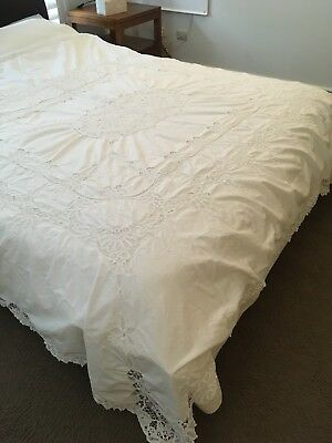 Battenburg Lace Table Cloth / Bed Cover