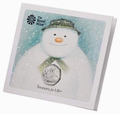 UNITED KINGDOM 2018 50p Royal Mint 40th Anniversary of The Snowman BU Coin Pack