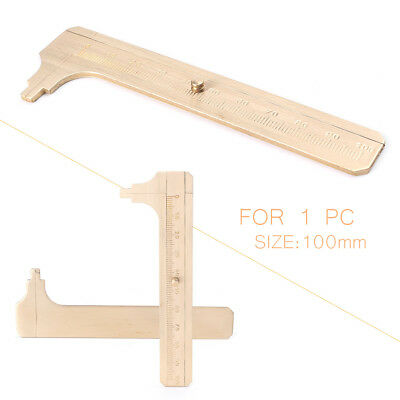 100mm Brass CALIPER Sliding Vernier Ruler Gauge Gem Tool Bead Measuring