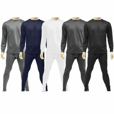Men's 2pc Thermal Underwear Set Long Johns Waffle Knit Top Bottom   M L XL 2X 4X