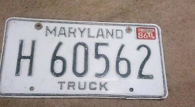 Maryland Truck License Plate