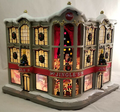 "Coca-Cola Holiday Village Collection, ""Jingle's Department Store"" lit sculpture!"