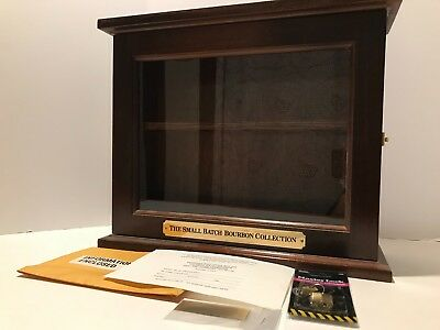 Small Batch Bourbon - Cherry Wood & Glass Counter Display Case Cabinet - Unused
