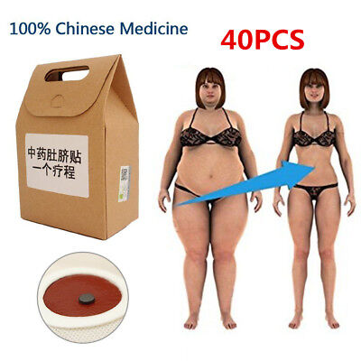 40Pcs Magnetic Slimming Patch Weight Loss Detox Burn Fat Pads Slim Belly Leg Arm