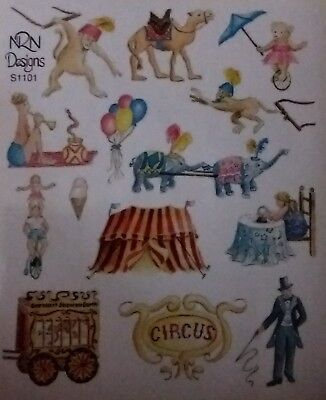 5 Sheets NRN  Stickers CIRCUS Big Top  Retired
