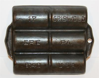Griswold Cast Iron No 17 French Roll Pan P/N 6140