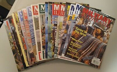 19 Back Issues of Military Illustrated Magazine