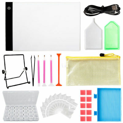A4 USB LED Light Pad Board Stand Holder Diamond Sketching Painting Tools Kit