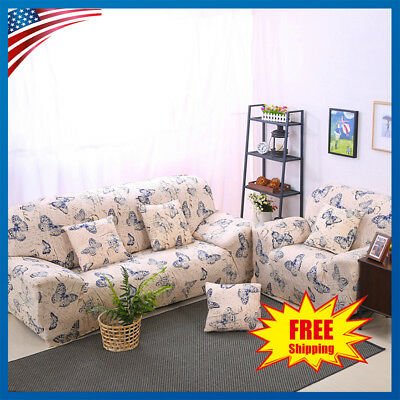 Stretch Armchair Sofa Covers Couch Elastic Slipcover Protector - Printing Floral