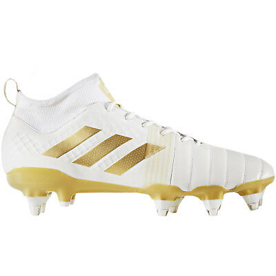 adidas Performance Mens Kakari X Kevlar Lace Up Rugby Training Boots - White