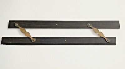 "Antique Maritime / Naval Parallel 15"" Ruler - Solid wood and brass"