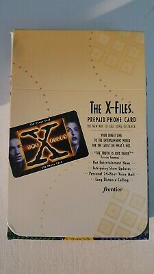 X-Files Prepaid Phone Card - brand new - original packaging - free shipping